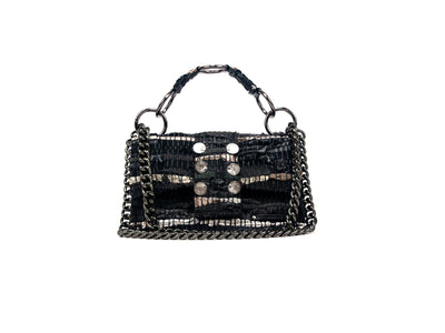 "Leather Shoulder Bag - New Yorker Soho ""Angel"" Black"