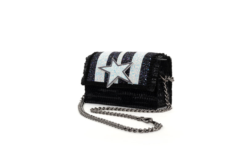 Leather Shoulder Bag - Disco 'Carousel' Black