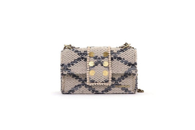 Fabric Shoulder Bag - SoHo Rhombus Grey Love