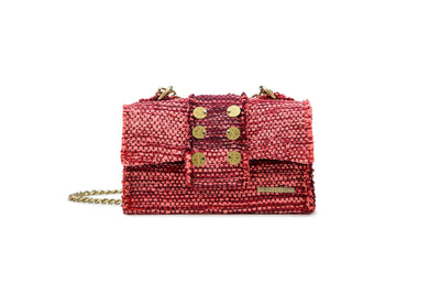 Fabric Shoulder Bag - Athena Burgundy