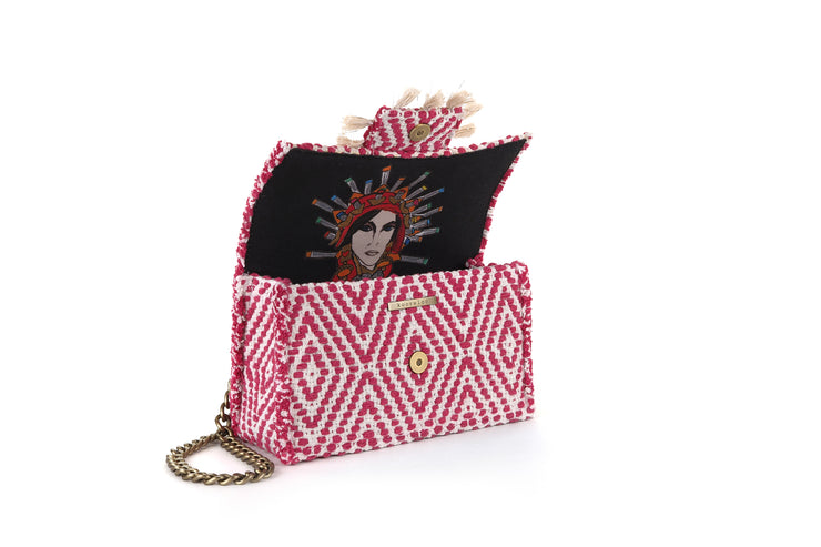 Fabric Shoulder Bag - Cali Fuchsia