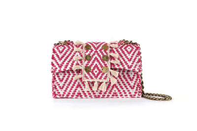 Fabric Shoulder Bag - Cali Fuchsia cs