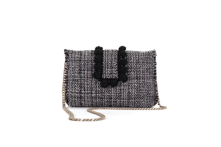 Fabric Shoulder Bag - Epiphany Pouch 'Capulet' Domino
