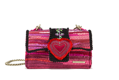 Fabric Shoulder Bag - Divine Bijoux Fuchsia