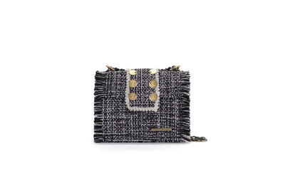 Fabric Shoulder Bag - Epiphany Minima Domino