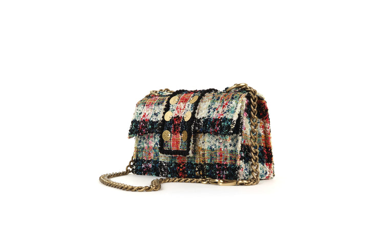 Tweed Shoulder Bag - SoHo Cicadas Off White / Green