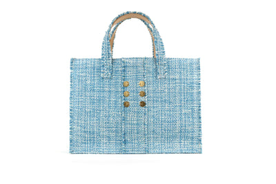 Fabric Book Tote - Epiphany Aquamarine