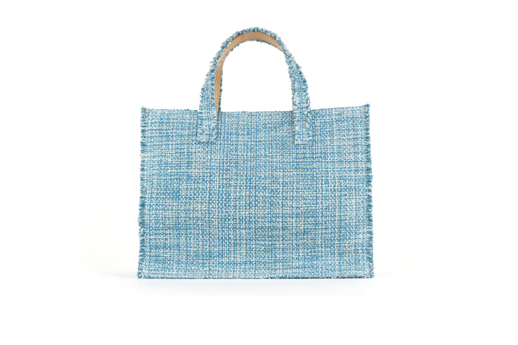 Fabric Book Tote - Epiphany Aquamarine cs