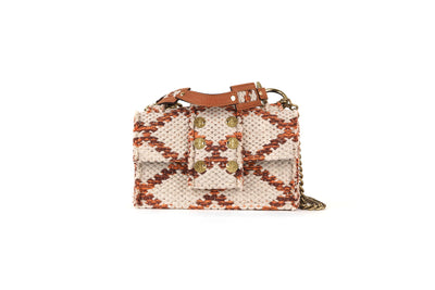 Fabric Shoulder Bag - SoHo Rhombus Amber Love