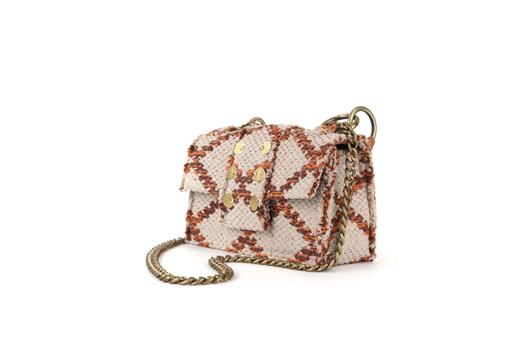 Fabric Shoulder Bag - SoHo Rhombus Angel Amber Love