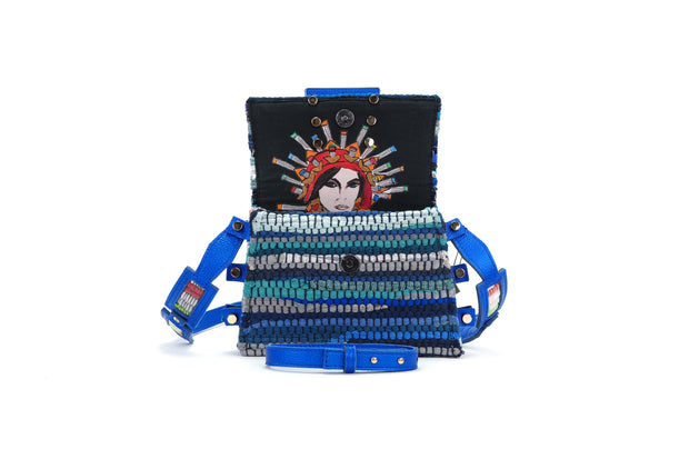 Fabric & Leather Belt Bag - Ersilia Mykonos