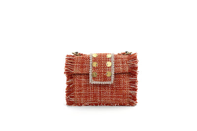 Fabric Shoulder Bag - Epiphany Minima Pumpkin