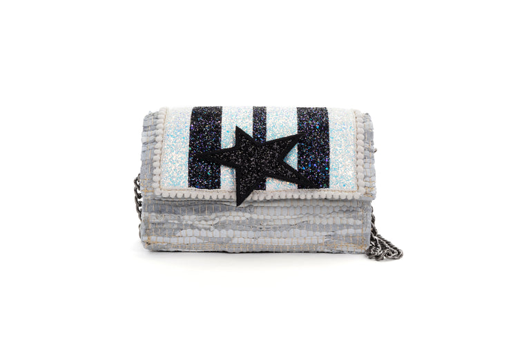 Leather Shoulder Bag - Disco 'Carousel' Off-White