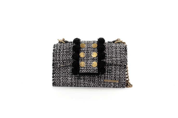 Fabric Shoulder Bag - Epiphany Romeo Domino