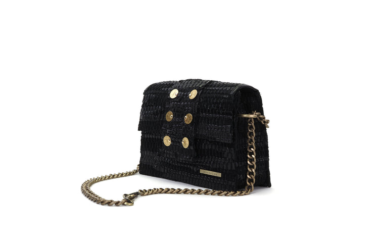 Leather Shoulder Bag - A Line Maxima