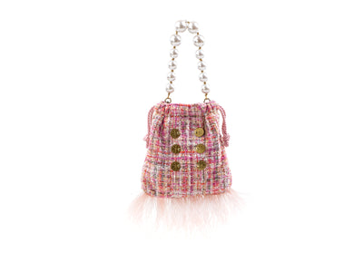 Pouch Bag Fetching Pink Sequins