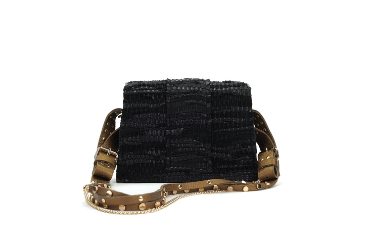 Leather Shoulder Bag - A Line Maxima Gold