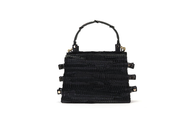Leather Shoulder Bag - Ersilia Black