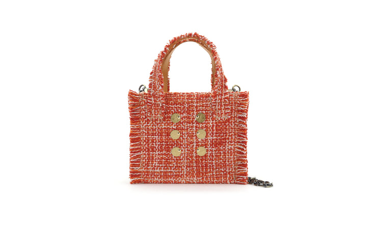 Fabric Shoulder Bag - Epiphany Tote Pumpkin