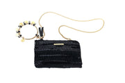 Leather Pochette - Looloo Black
