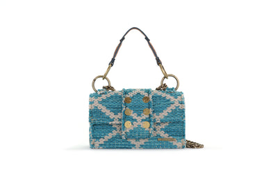 Fabric Shoulder Bag - SoHo Rhombus Petrol