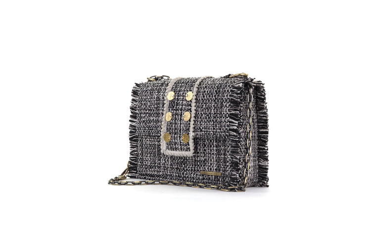 Fabric Shoulder Bag - Epiphany Maxima Domino