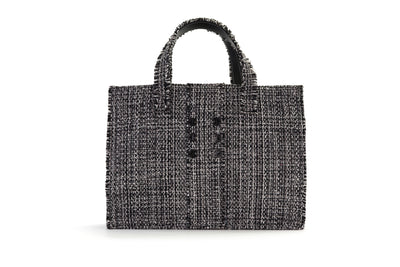 Fabric Book Tote - Epiphany Domino