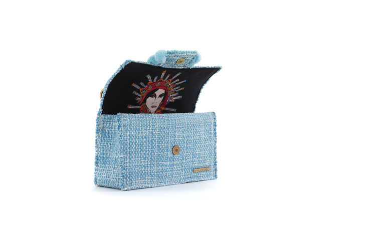 Fabric Shoulder Bag - Epiphany Romeo Aquamarine