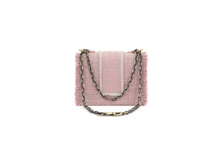 Fabric Shoulder Bag - Epiphany Minima Baby Pink