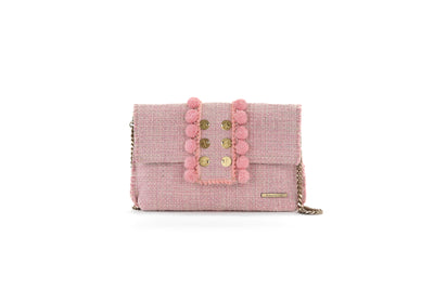 Fabric Shoulder Bag - Epiphany Pouch 'Capulet' Baby Pink
