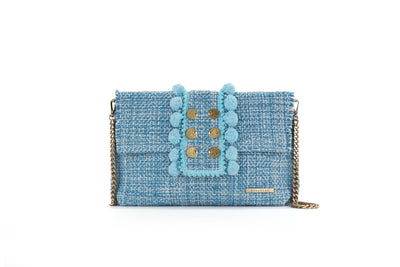 Fabric Shoulder Bag - Epiphany Pouch 'Capulet' Aquamarine