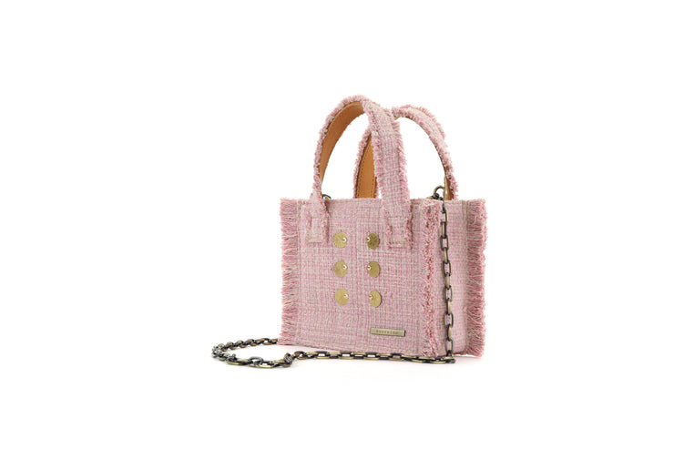 Fabric Shoulder Bag - Epiphany Tote Baby Pink