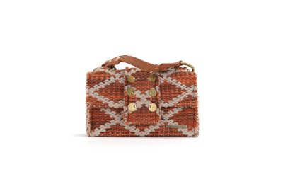 Fabric Shoulder Bag - SoHo Rhombus Amber Knot