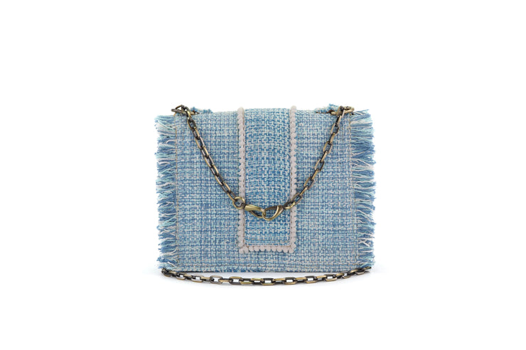 Fabric Shoulder Bag - Epiphany Maxima Aquamarine