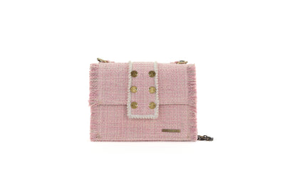 Fabric Shoulder Bag - Epiphany Maxima Baby Pink