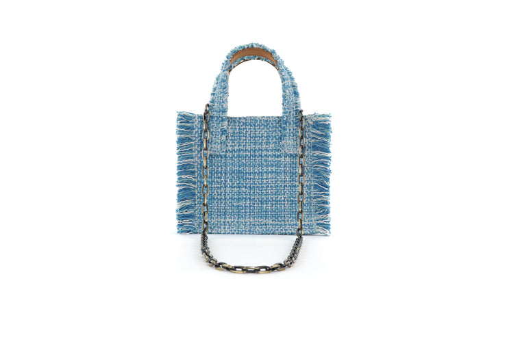 Fabric Shoulder Bag - Epiphany Tote Aquamarine
