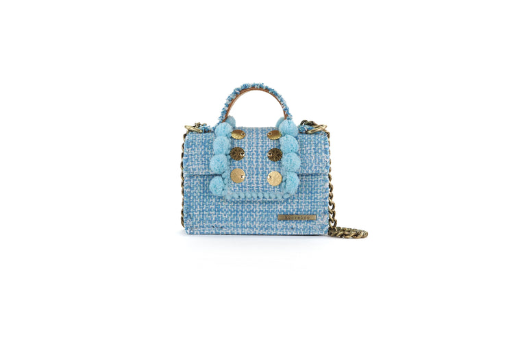 Fabric Shoulder Bag - Epiphany Petite Juliet Aquamarine