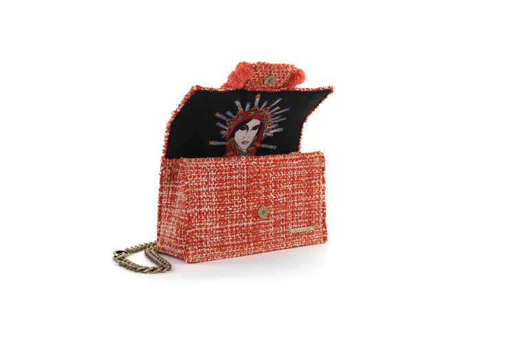 Fabric Shoulder Bag - Epiphany Romeo Pumpkin