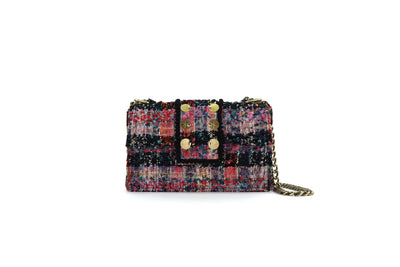 Tweed Shoulder Bag - SoHo Cicadas Red / Blue