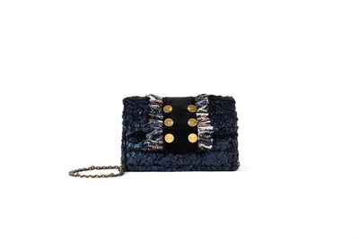 Clutch Metallic BlueTitlis (trim BB) Velvet