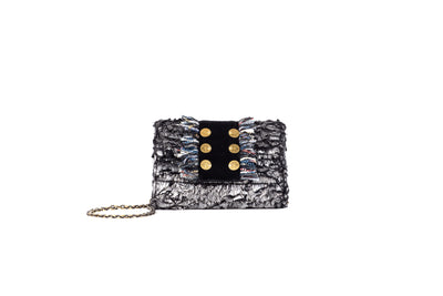 Clutch Metallic Grey Titlis (trim BB) Velvet