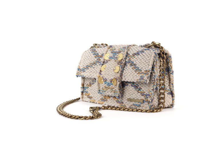 Fabric Shoulder Bag - SoHo Rhombus Multi Love