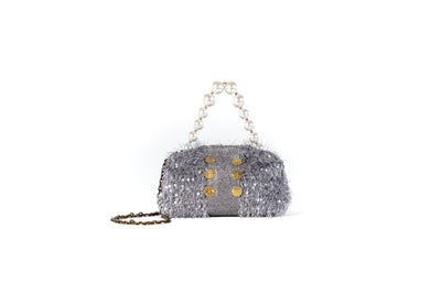 Shell The Pouch Grey Sequins (Pearls)
