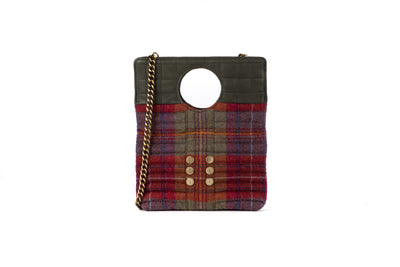 Shopper/Clutch Marpesia Plaid Rubha