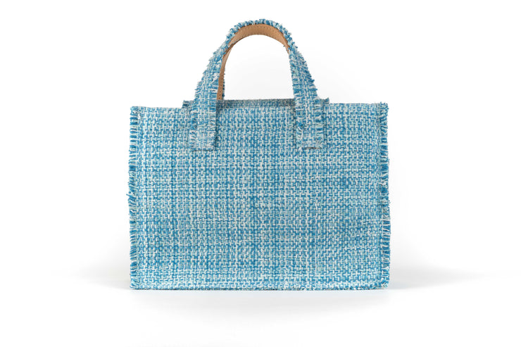 Fabric Midi Book Tote - Diana Epiphany Aquamarine