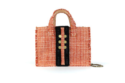 Fabric Midi Book Tote - Diana Epiphany Pumpkin