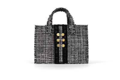 Fabric Midi Book Tote - Diana Epiphany Domino