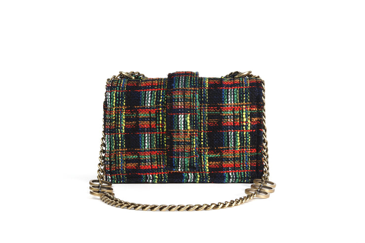 Tweed Shoulder Bag - Notting Hill Green/Red