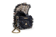 Tweed Shoulder Bag - Bubble 'Orbit' Blue Ivory