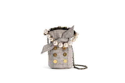 Tweed Pouch - Charlotte Ivory